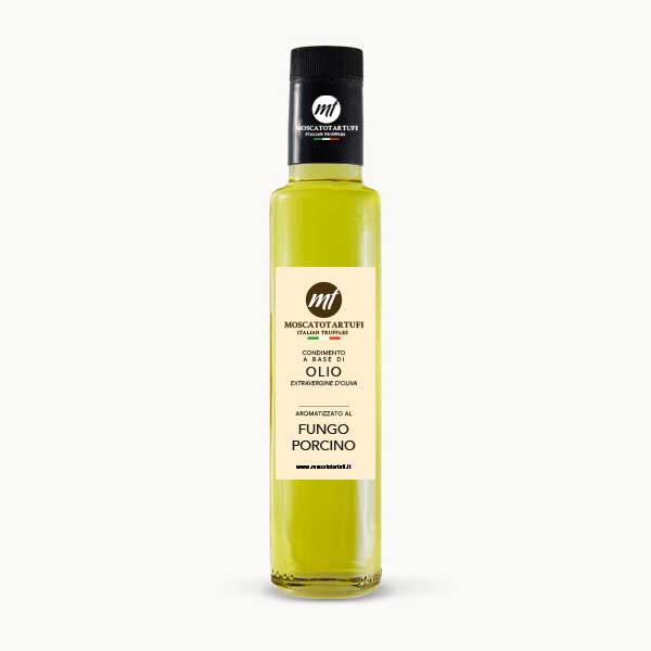 Olio Extra-vergine d'oliva aromatizzato Funghi Porcini